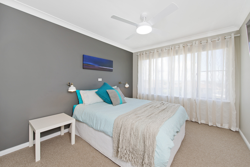 Master bedroom upstairs Apricari oasis by the sea Bonny Hills