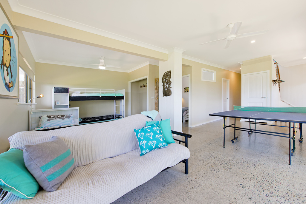 Rumpus room downstairs Apricari oasis by the sea Bonny Hills